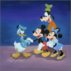 Mickey Mouse Art Limited Edition Giclee Canvas And Paper