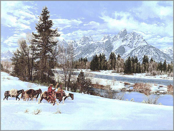 Paul Calle - Early Snow in the Tetons