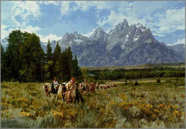 Paul Calle - In the Valley of the Grand Tetons