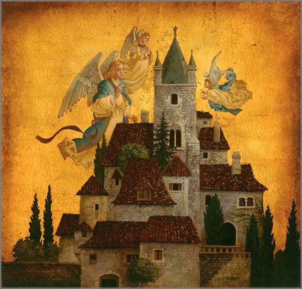 James C. Christensen - Angels of My Village