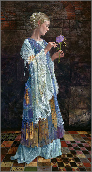 James C. Christensen - Beggar Princess and the Magic Rose