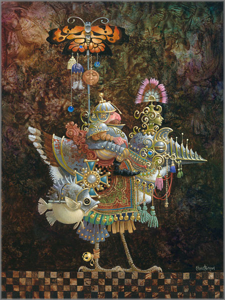 James C. Christensen - Butterfly Knight