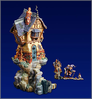 James C. Christensen - All Lived in a Crooked House