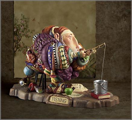 James C. Christensen - Fishing Figurine