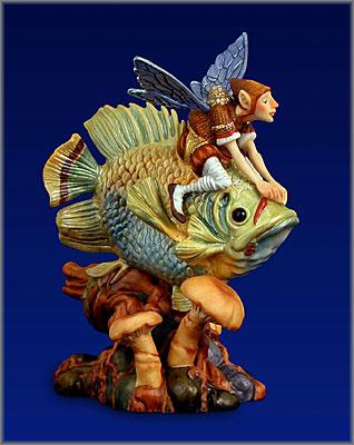 James C. Christensen - Forest Fish Rider