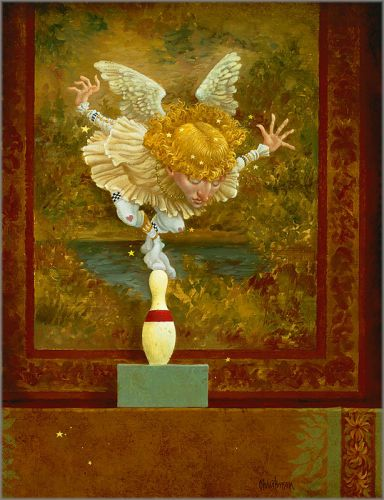 James C  Christensen - How Many Angels Can Dance on the Head of a