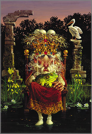 James C. Christensen - Pelican King and the Prince