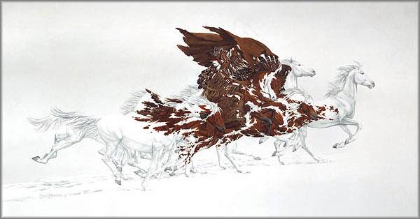 Home art bev doolittle eagle s flight