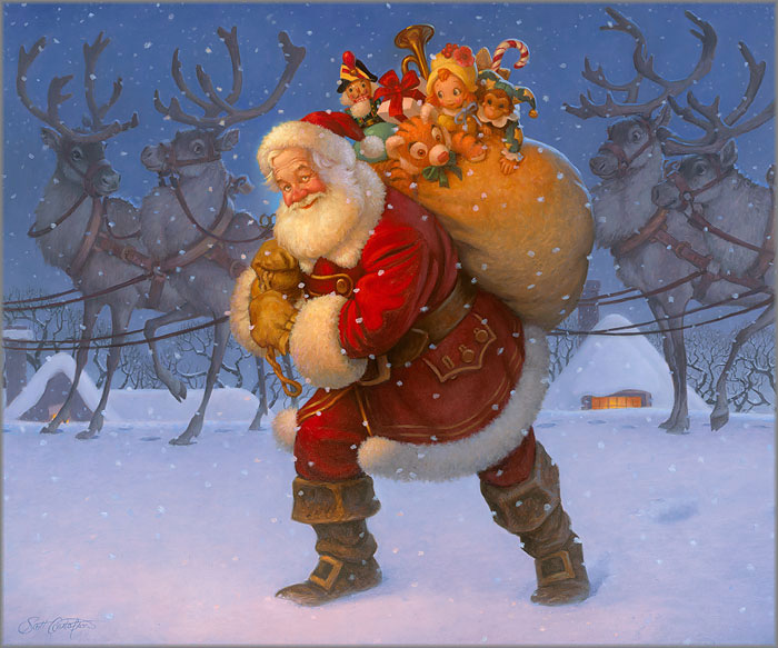 Scott Gustafson - Santa with Reindeer