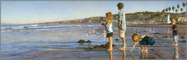 Steve Hanks - Children on La Jolla Shores