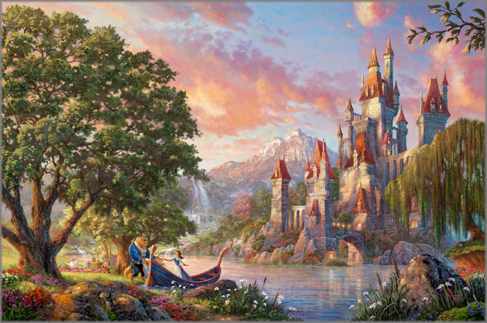 Beauty and the Beast II by Thomas Kinkade Studios