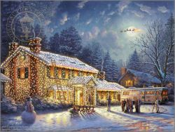 High Country Christmas Thomas Kinkade LE 395 18x27 Paper NEW Giclee