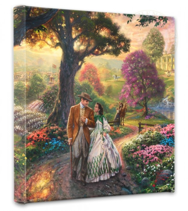 Thomas Kinkade - Gone with the Wind - Wrapped Canvases