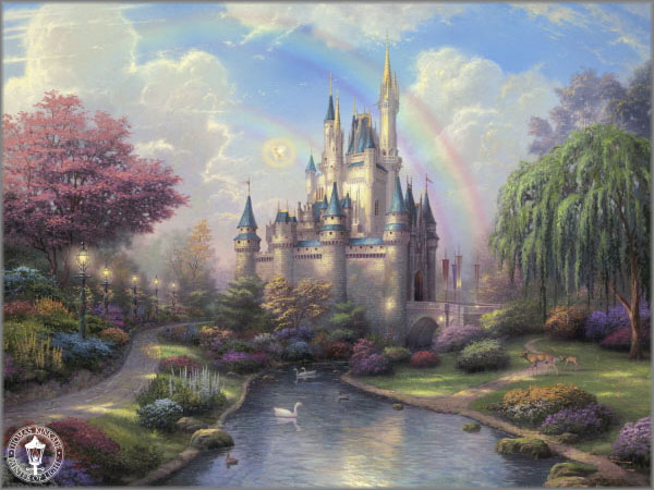 Thomas Kinkade - New Day at Cinderella's Castle - Classics Collection