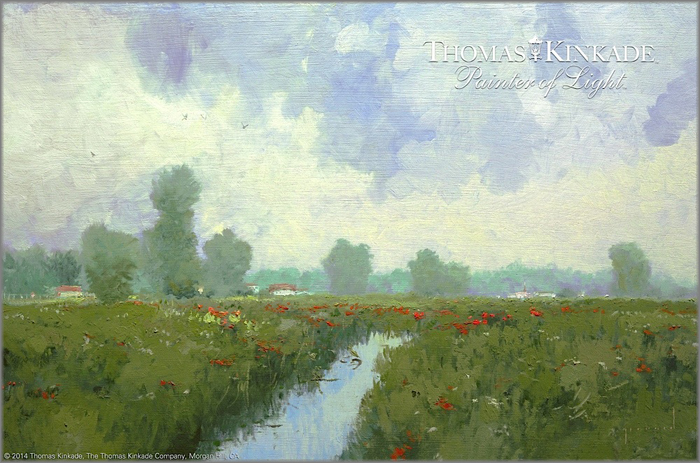 Spring Meadows by Thomas Kinkade as Robert Girrard