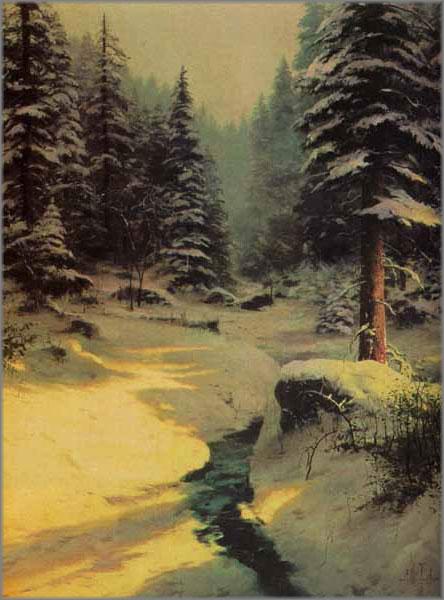 Thomas Kinkade - Winter Light