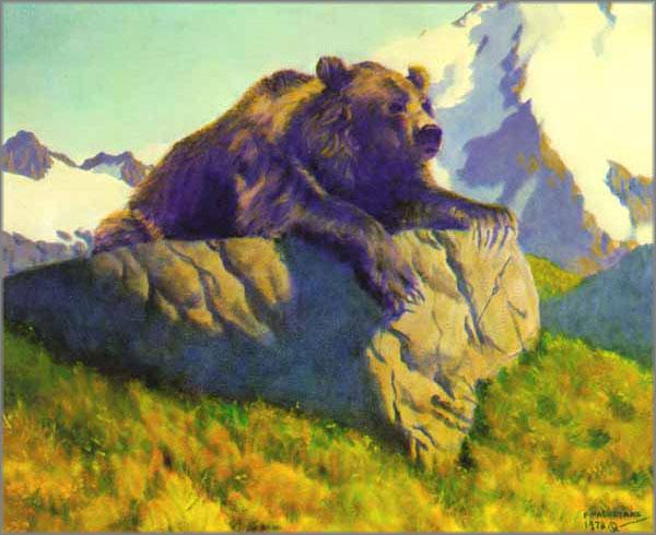 Fred Machetanz - King of the Mountain