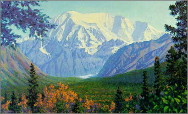 Fred Machetanz - Mount Blackburn-Sovereign of the Wrangells