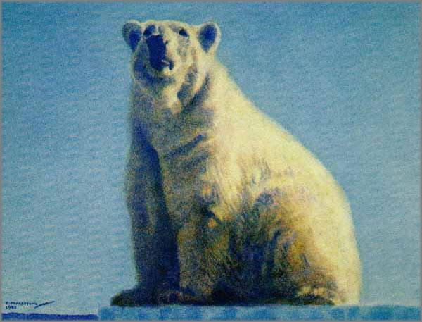 Fred Machetanz - Regal Ruler - Polar Bear
