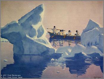 Fred Machetanz - Search on the Pressure Ice
