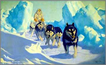 Fred Machetanz - Trail Through the Pressure Ice