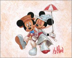"""Disney Fine Art James C Mulligan /""""My Father and Me/"""" Limited Edition Canvas"""
