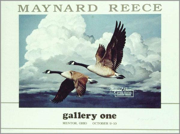 Maynard Reece - Storm Clouds - Canada Geese
