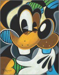 "Disney Fine Art Tim Rogerson /""Goofy/'s Plaza Mexico/"" Limited Edition Canvas"