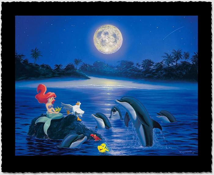Ariel's Dolphin Serenade by Wyland