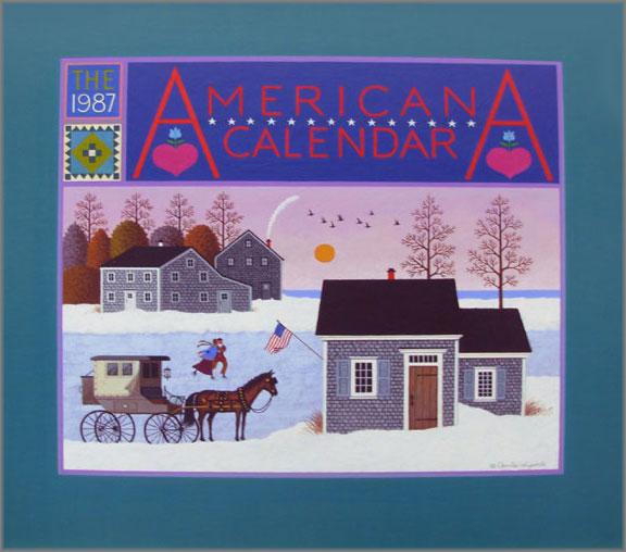 Charles Wysocki - Americana Calendar 1987