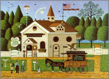 Charles Wysocki - Birdhouse, The