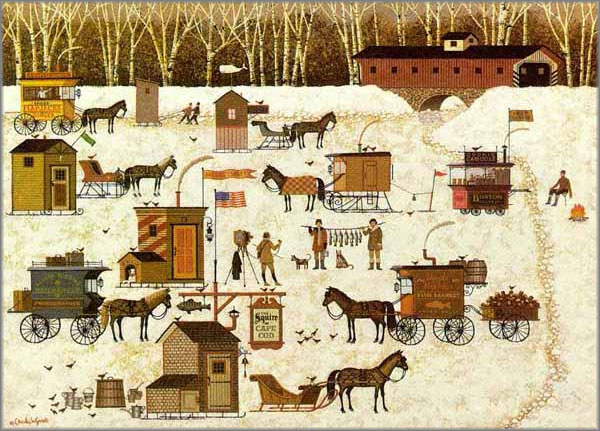 Charles Wysocki - Cape Cod Cold Fish Party