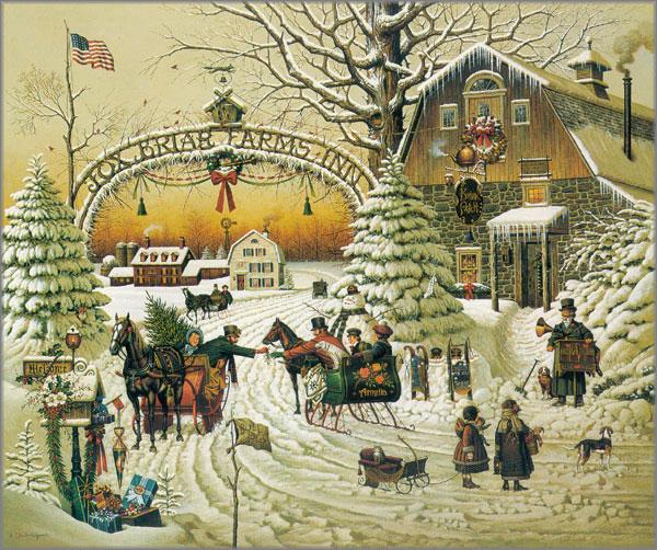 Charles Wysocki - Christmas Greeting 1989