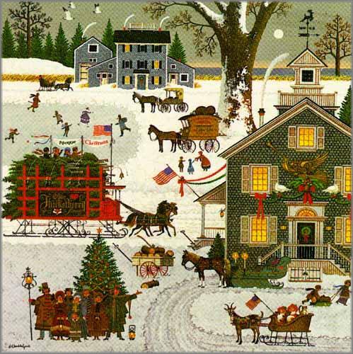 Charles Wysocki - 1982 Christmas Print