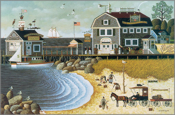 Charles Wysocki - Clammers at Hodge's Horn