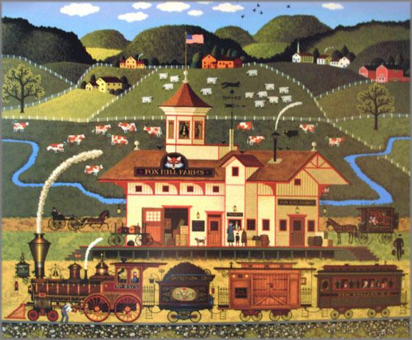 Charles Wysocki Fox Hill Farms Americana