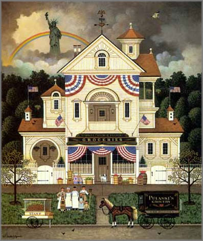Charles Wysocki - Lady Liberty's Independence Day Enterprising Immigrants