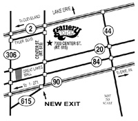 map to Gallery One